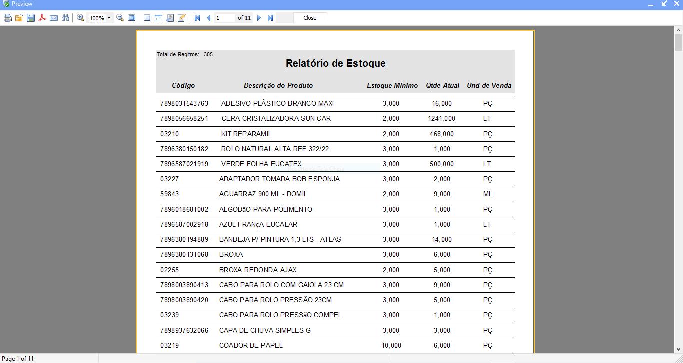 Relatórios em PDF