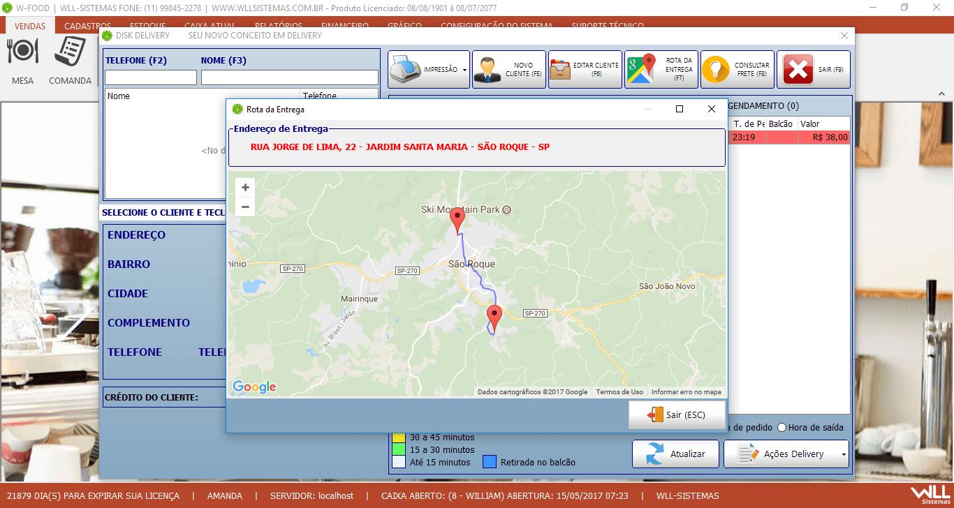 Integração com Google MAPS